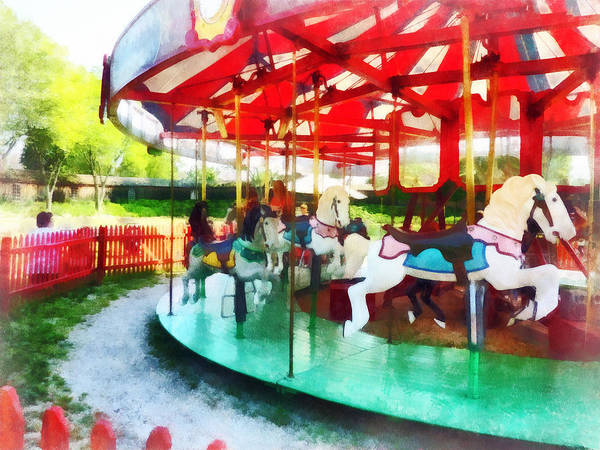 Photograph - Sunny Afternoon On The Carousel by Susan Savad