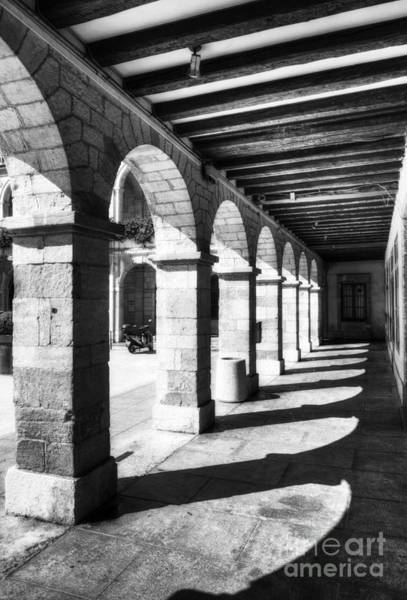 Photograph - Sunny Arches Of Vienne Bw by Mel Steinhauer