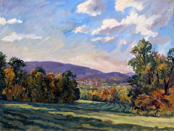 Wall Art - Painting - Sunny Autumn Berkshires by Thor Wickstrom