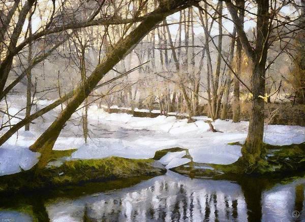 Moss Digital Art - Sunny But So Cold by Gun Legler