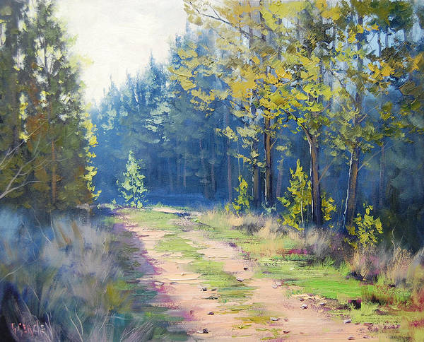 Wall Art - Painting - Sunny Corner Pine Forest by Graham Gercken