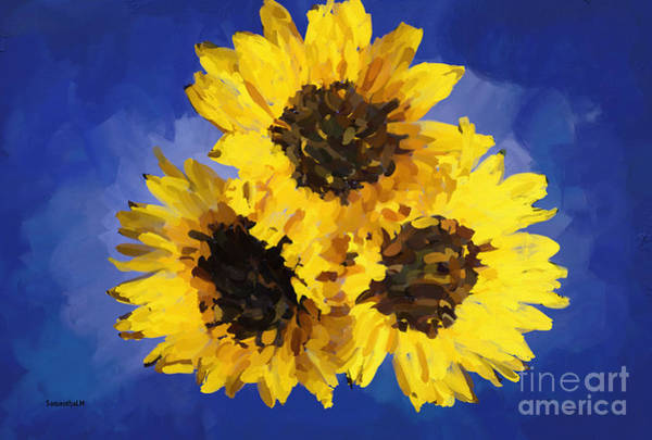 Wall Art - Painting - Sunny Flowers by Samantha Lovejoy
