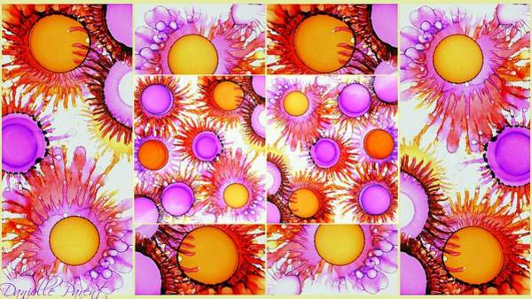 Painting - Sunny Happy Abstract Alcohol Inks Collage by Danielle  Parent