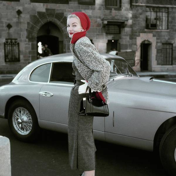 Red Lipstick Photograph - Sunny Harnett By A Car by Frances Mclaughlin-Gill