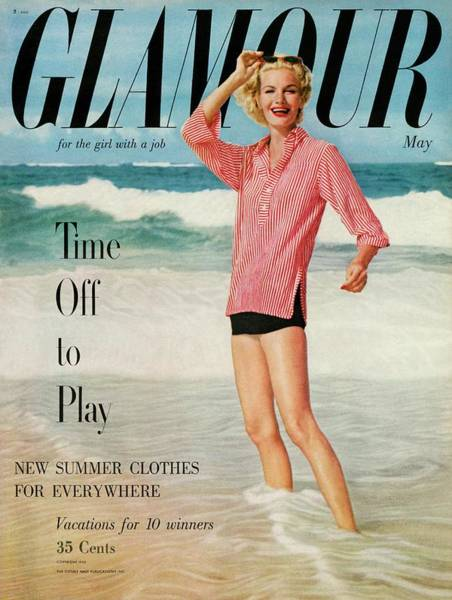 Water Photograph - Sunny Harnett On The Cover Of Glamour by Leombruno-Bodi
