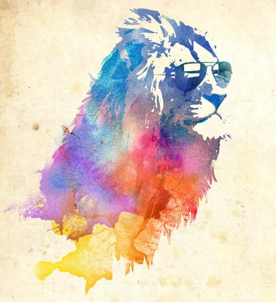 Lion Mixed Media - Sunny Leo by Robert Farkas