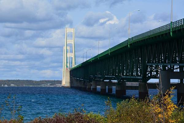 Photograph - Sunny Mackinac Bridge by Keith Stokes