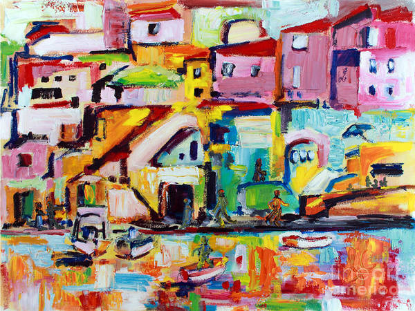 Painting - Sunny Procida Italy Oil Painting by Ginette Callaway