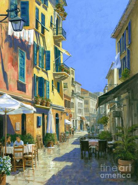Wall Art - Painting - Sunny Side Of The Street 30 X 40 - Sold by Michael Swanson