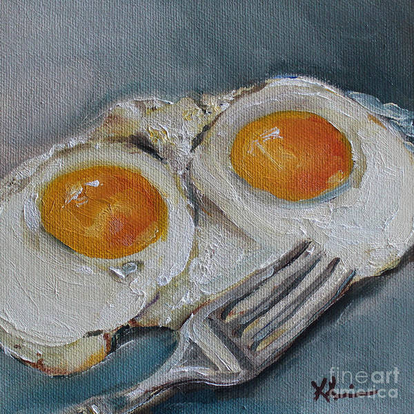 Protein Painting - Sunny Side Up by Kristine Kainer