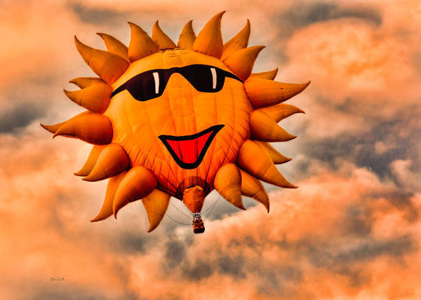 Photograph - Sunny Sunset Hot Air Balloon by Bob Orsillo
