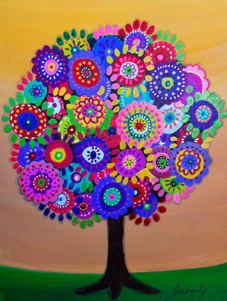 Painting - Sunny Tree Of Life by Pristine Cartera Turkus