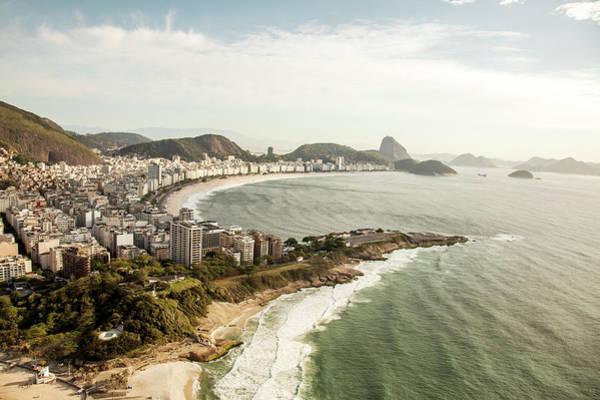 Rio De Janeiro Photograph - Sunny View Of Copacabana, Rio De Janeiro by Christian Adams