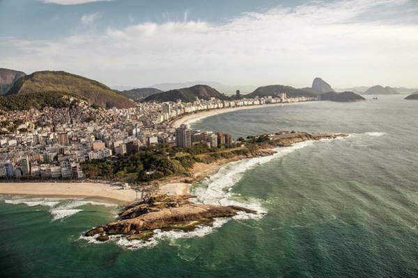 Rio De Janeiro Photograph - Sunny View Onto Copacabana, Rio De by Christian Adams