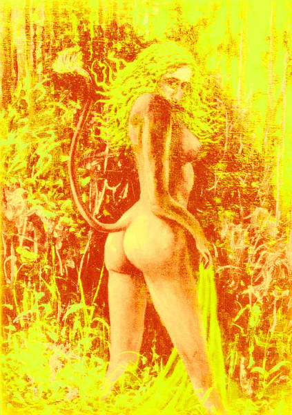 Sexuality Mixed Media - Sunny Wood Nymph by Genio GgXpress