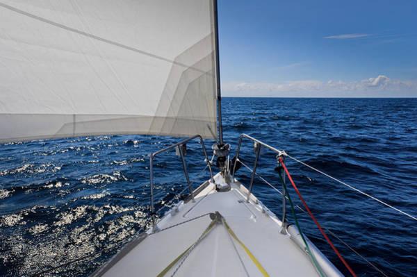 Photograph - Sunny Yacht Bow by Gary Eason