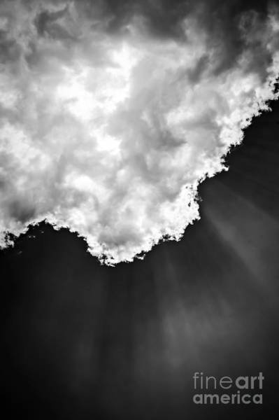 Wall Art - Photograph - Sunrays In Black And White by Elena Elisseeva