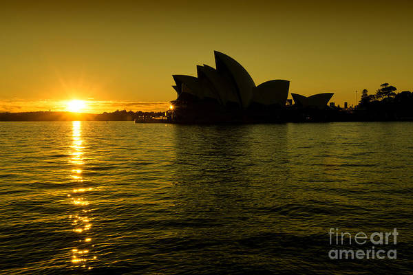 Photograph - Sunrise @ Sydney Opera House by Yew Kwang