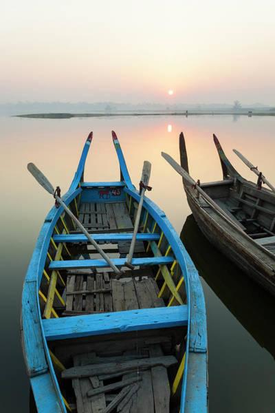 Burma Wall Art - Photograph - Sunrise, Amarapura, Mandalay, Burma by Peter Adams