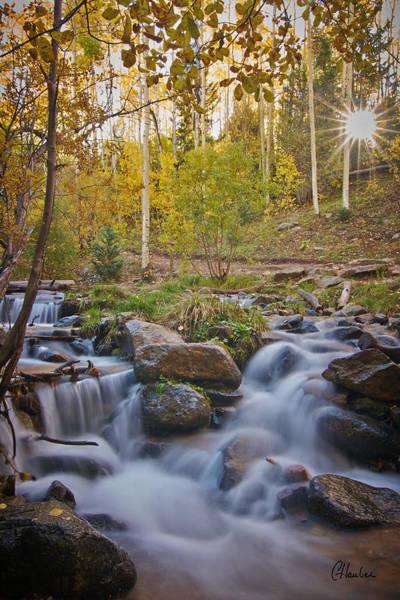 Christine Falls Photograph - Sunrise And Aspens by Christine Hauber