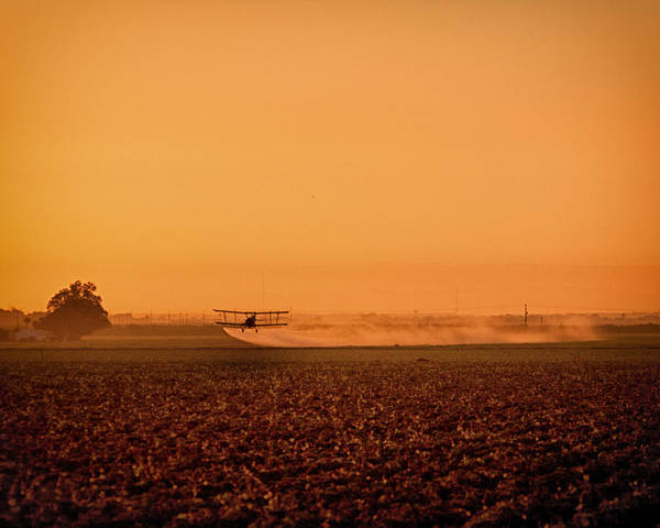 San Joaquin Valley Photograph - Sunrise And Grumman Ag-cat Carbona Ca by Troy Montemayor