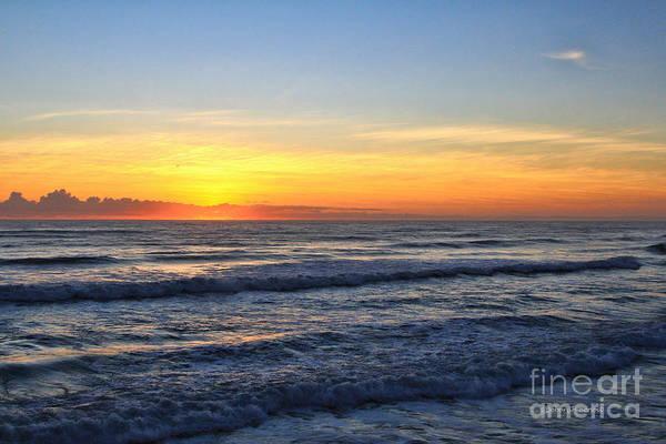 Photograph - Sunrise And Waves by Deborah Benoit