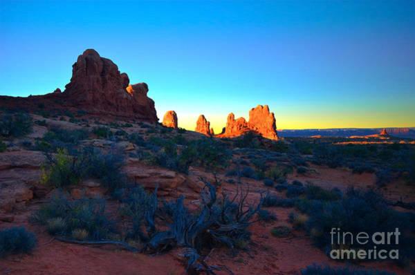 Photograph - Sunrise At Arches National Park by Tara Turner