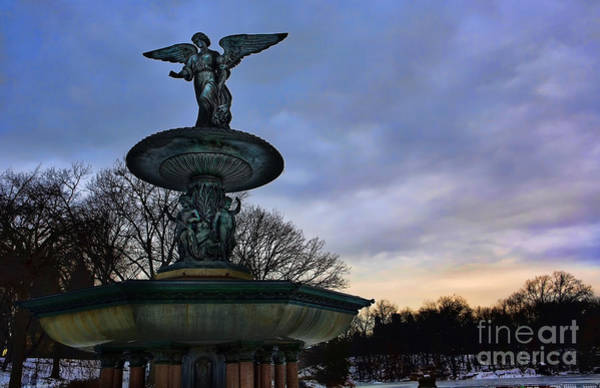 Wall Art - Photograph - Sunrise At Bethesda - Angel Of The Waters by Lee Dos Santos