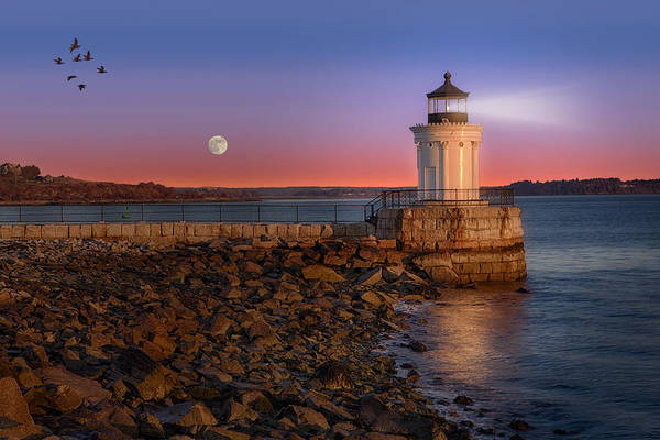 Photograph - Sunrise At Bug Light by Susan Candelario