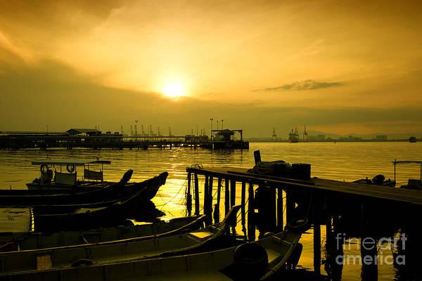 Photograph - Sunrise At Chew Jetty by Yew Kwang