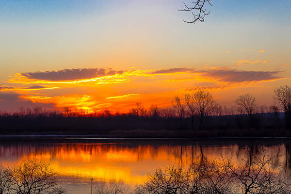 Sunrise At Clear Creek Art Print