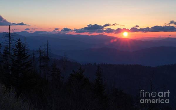 Photograph - Sunrise At Clingmans Dome by Joshua Clark