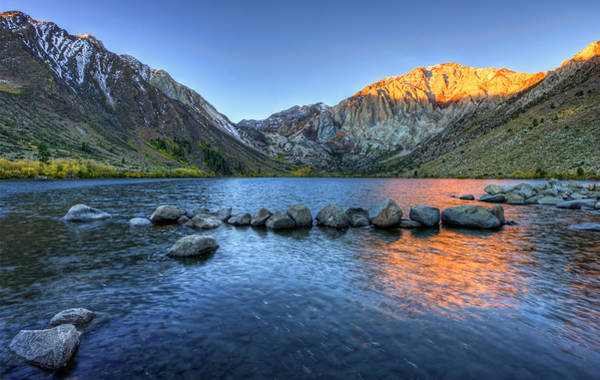 Photograph - Sunrise At Convict Lake by Beth Sargent