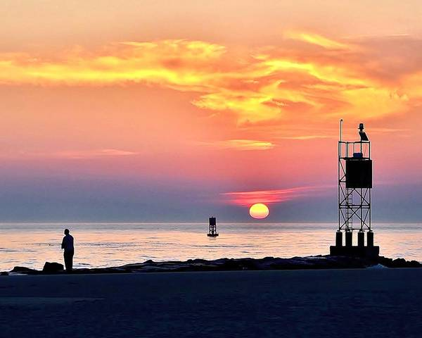 Photograph - Sunrise At Indian River Inlet by Kim Bemis