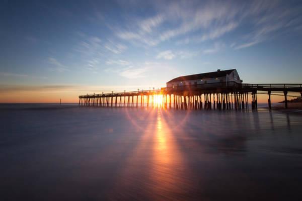 Sunrise At Kitty Hawk Pier Art Print