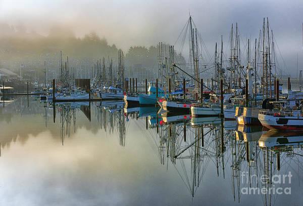 Bronstein Photograph - Sunrise At Newport Harbor by Sandra Bronstein