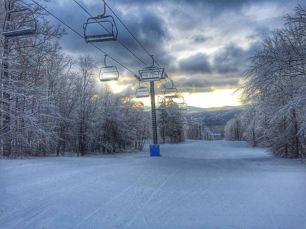 Photograph - Sunrise At Okemo Mountain by Pat Moore