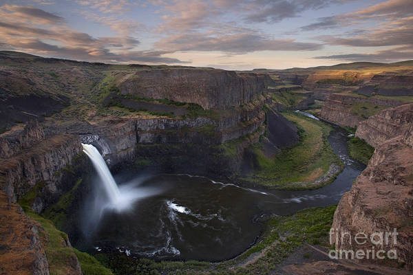 Wall Art - Photograph - Sunrise At Palouse Falls In Washington State by Keith Kapple