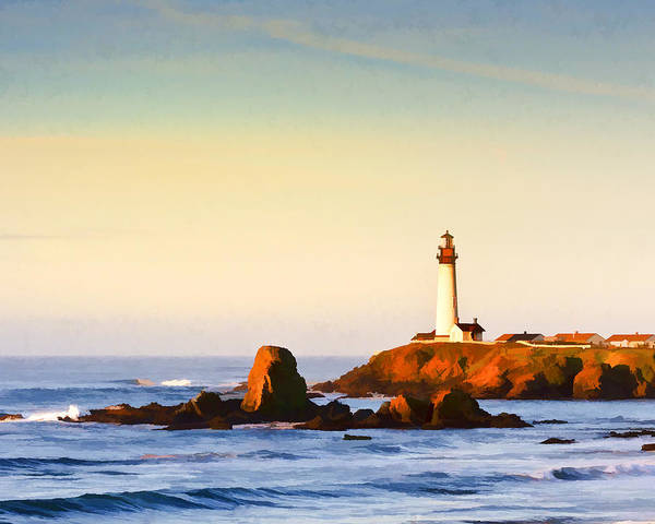 Wall Art - Photograph - Sunrise At Pigeon Point Light by Glen Glancy
