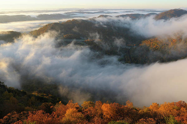 Cumberland Photograph - Sunrise At Pinnacle Overlook by Christian Heeb