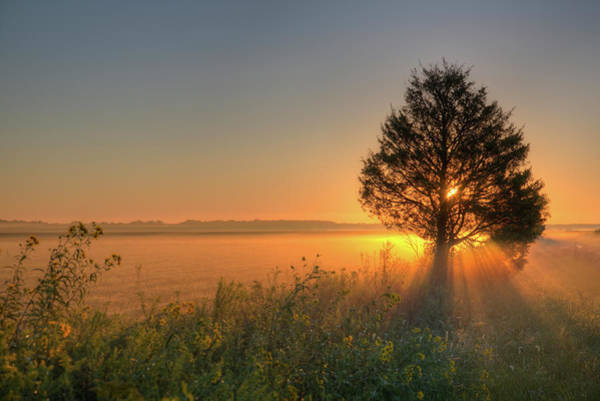 Tallgrass Wall Art - Photograph - Sunrise At Prairie Ridge State Natural by Richard and Susan Day