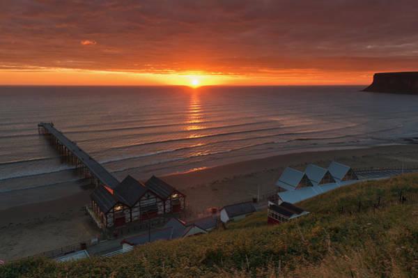 Photograph - Sunrise At Saltburn by Gary Eason