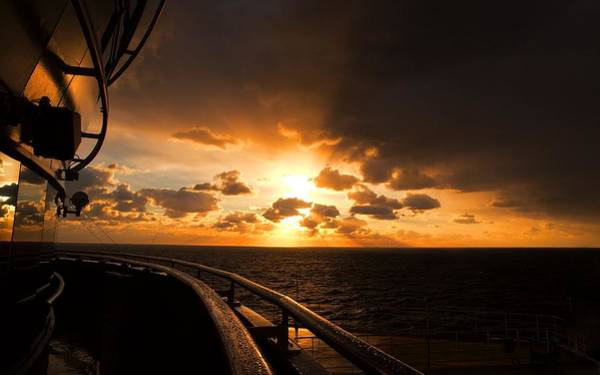 Princess Cruise Lines Photograph - Sunrise At Sea by Laura Ragland