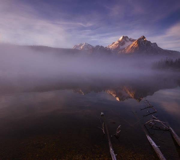 Alpen Glow Wall Art - Photograph - Sunrise At Stanley Lake Idaho by Vishwanath Bhat