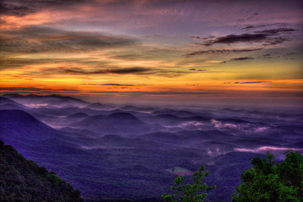 Photograph - The Valley Below Pretty Place Chapel Great Smoky Mountains by Reid Callaway