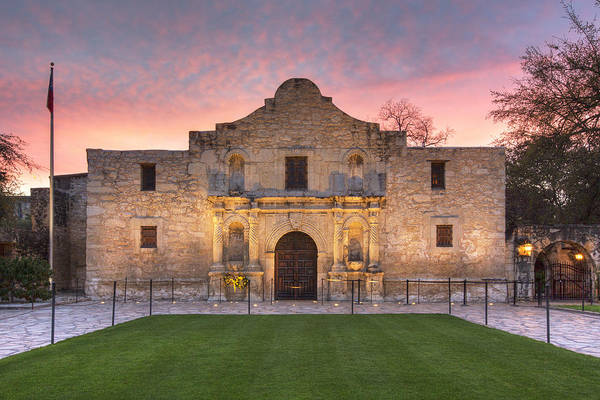 Texas Photograph - Sunrise At The Alamo San Antonio Texas 1 by Rob Greebon