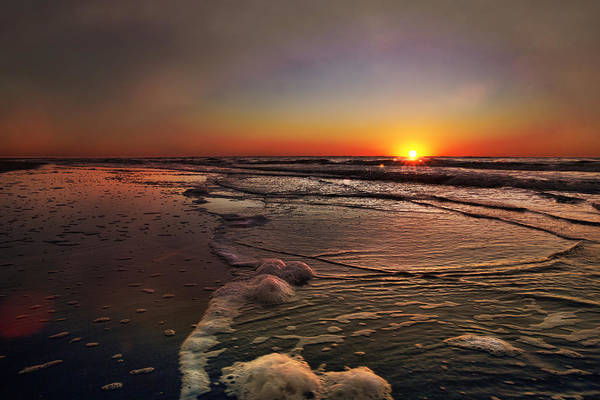 Photograph - Sunrise At The Beach by Evie Carrier
