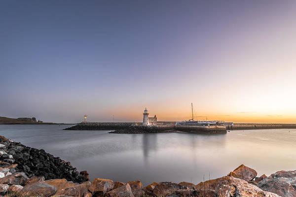 Konica Wall Art - Photograph - Sunrise At The Howth Lighthouse Dublin Ireland by Giuseppe Milo