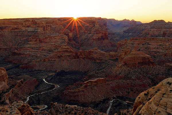 Chasm Photograph - Sunrise At The Wedge by Johnny Adolphson