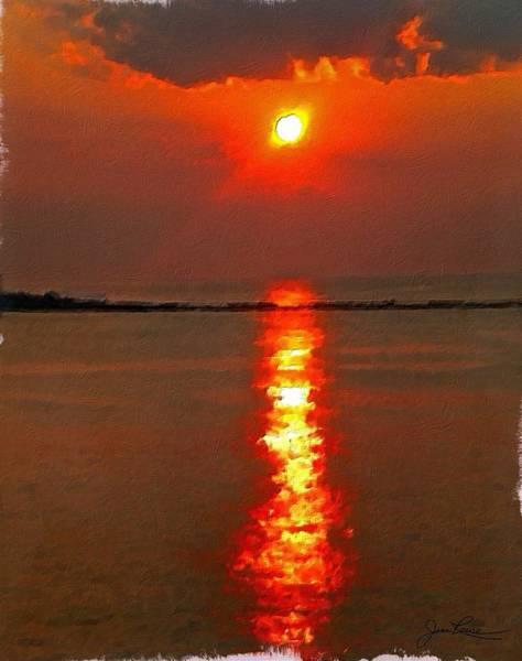 Painting - Sunrise Atlantic City by Joan Reese